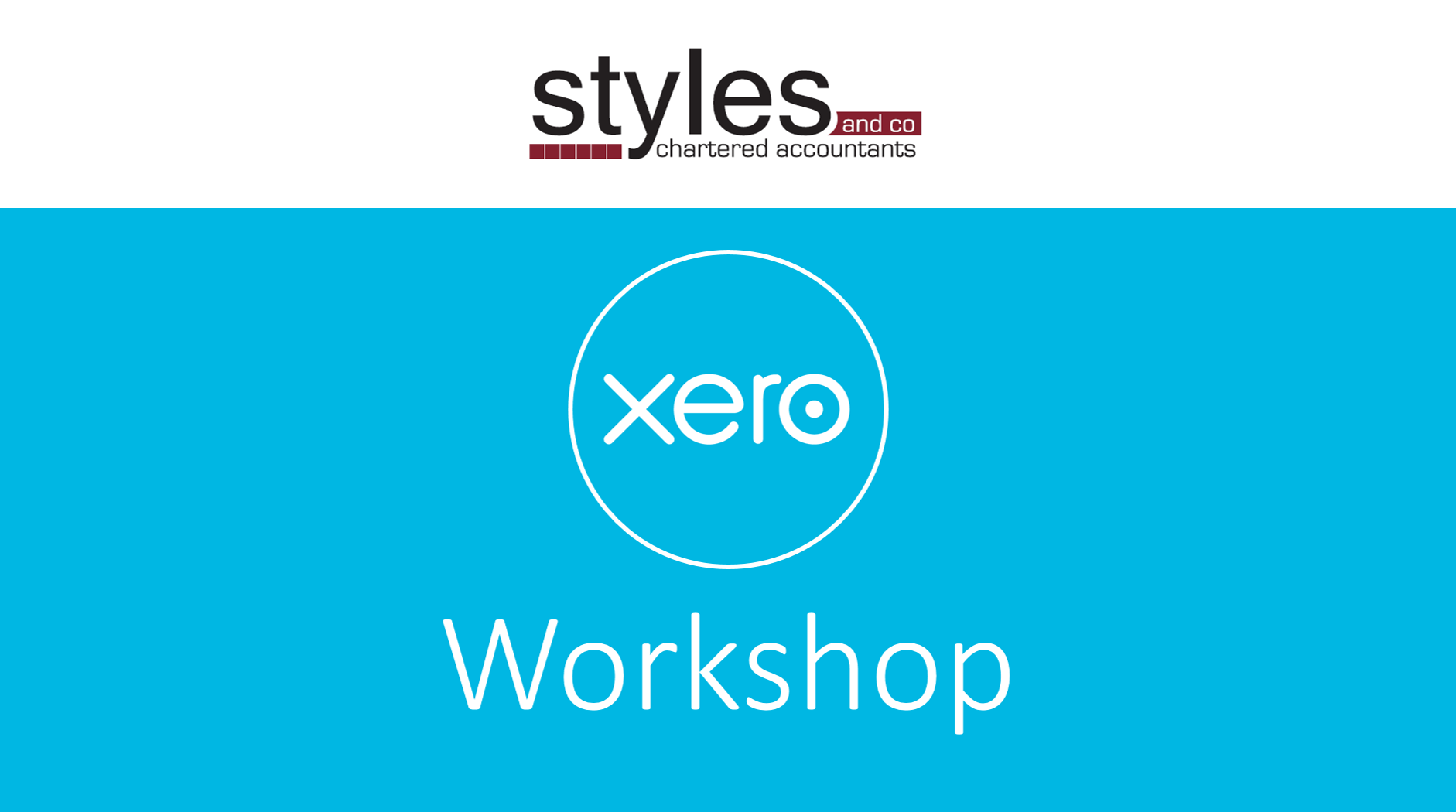 Styles and Co Xero Workshop